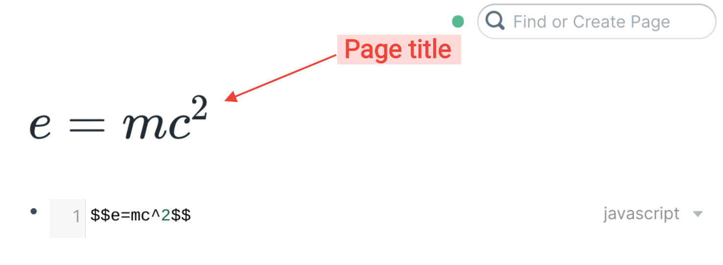 Page title created in LaTeX