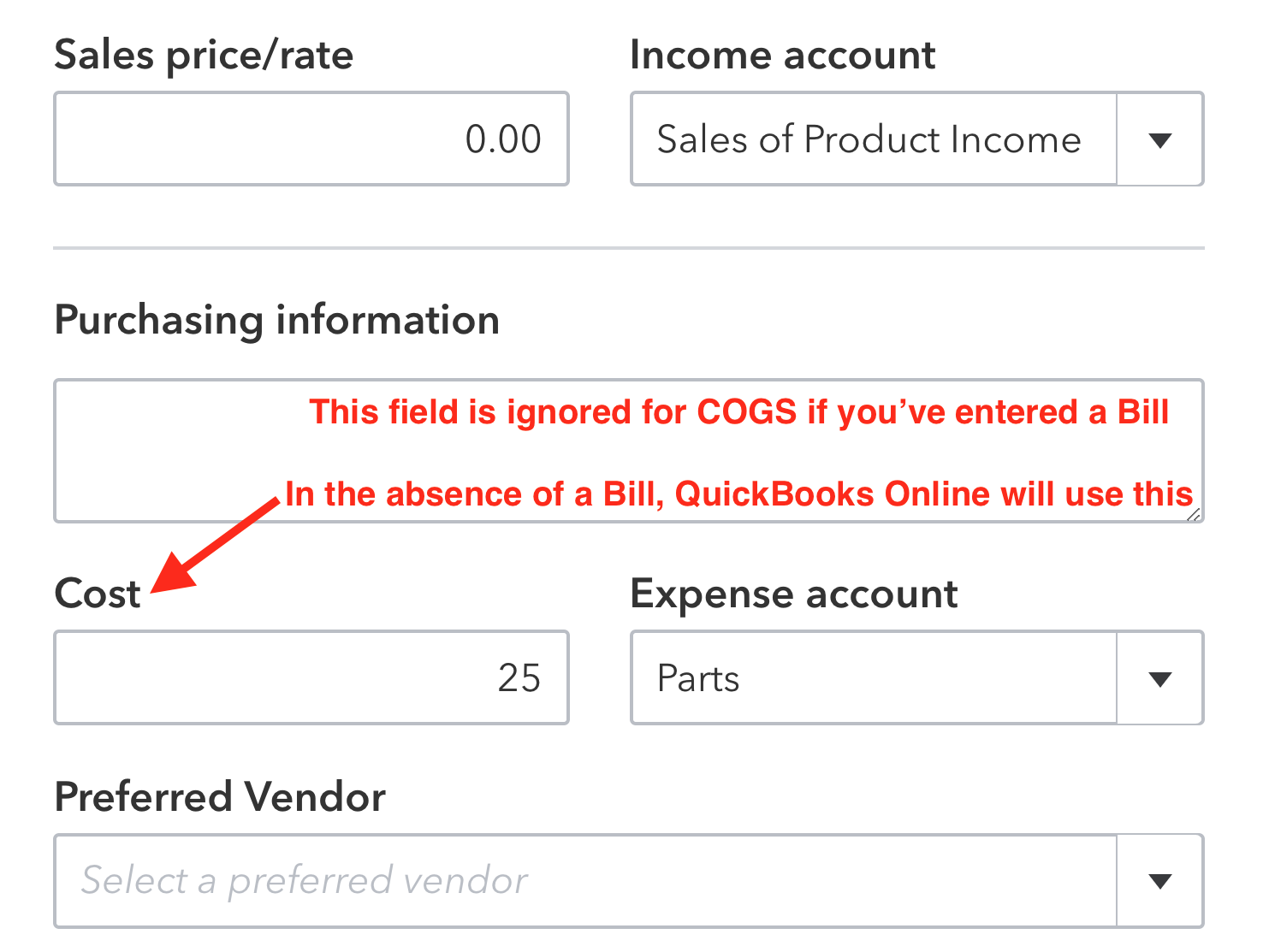 Why Cost of Goods Sold may be missing in QuickBooks Online
