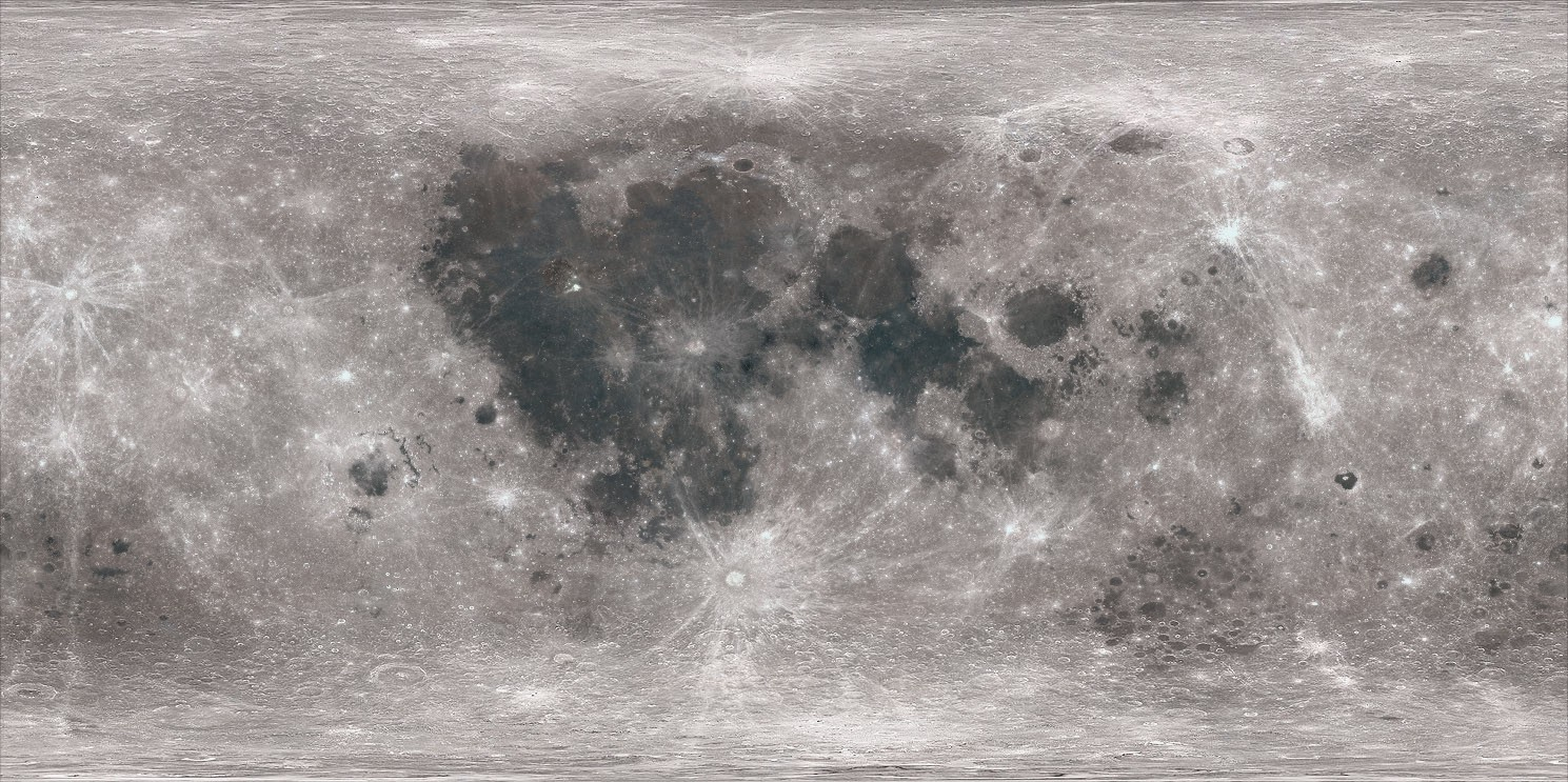 The Moon surface color map.