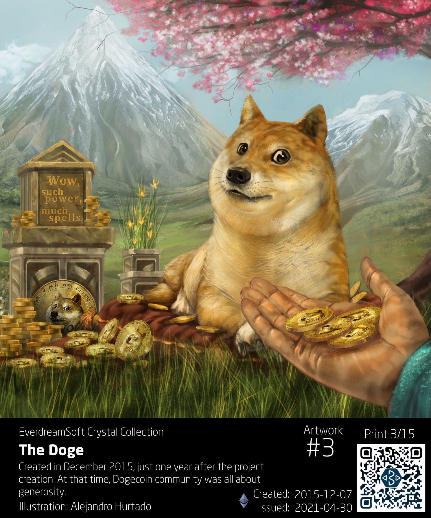The Doge, Crystal Collection print