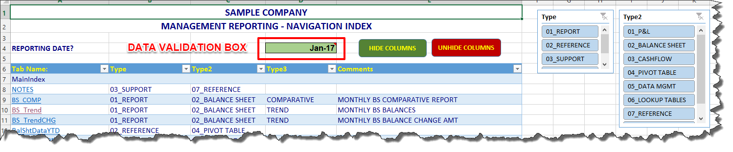 MS Excel — Simplify Your Excel Workbooks With A Navigation Index