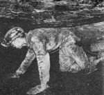The seams of coal were often so low miners had to work on their knees