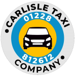 This is the logo of the Carlisle Taxi Company with the taxi phone number on it. You can call the taxi number on 01228 812612