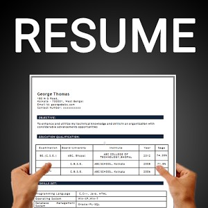 Best Resume Builder App 2018 For Android 30 Resume Formats By