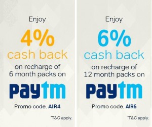 paytm discount coupon for airtel dth recharge
