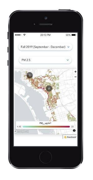 navigation-aclima-insights-air-quality-mobile-phone