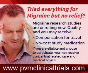 Migraine research studies in the England area - Pvm Clinical