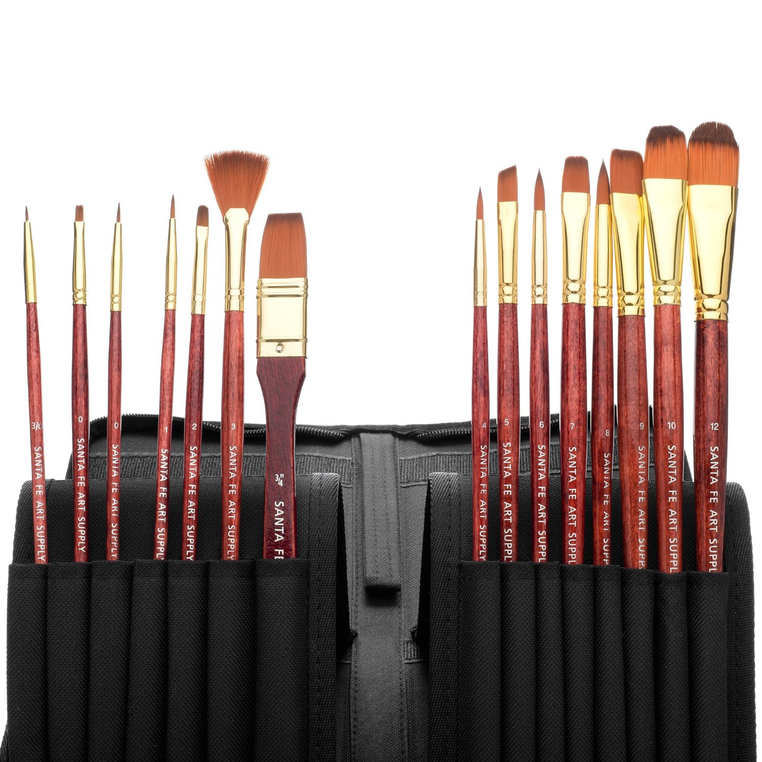 Long Handle Replacement Paint Brushes with Santa Fe Art Supply Best Quality Artist Paintbrush Filbert Size 2 Acrylic Oil Watercolor /& Face Paint