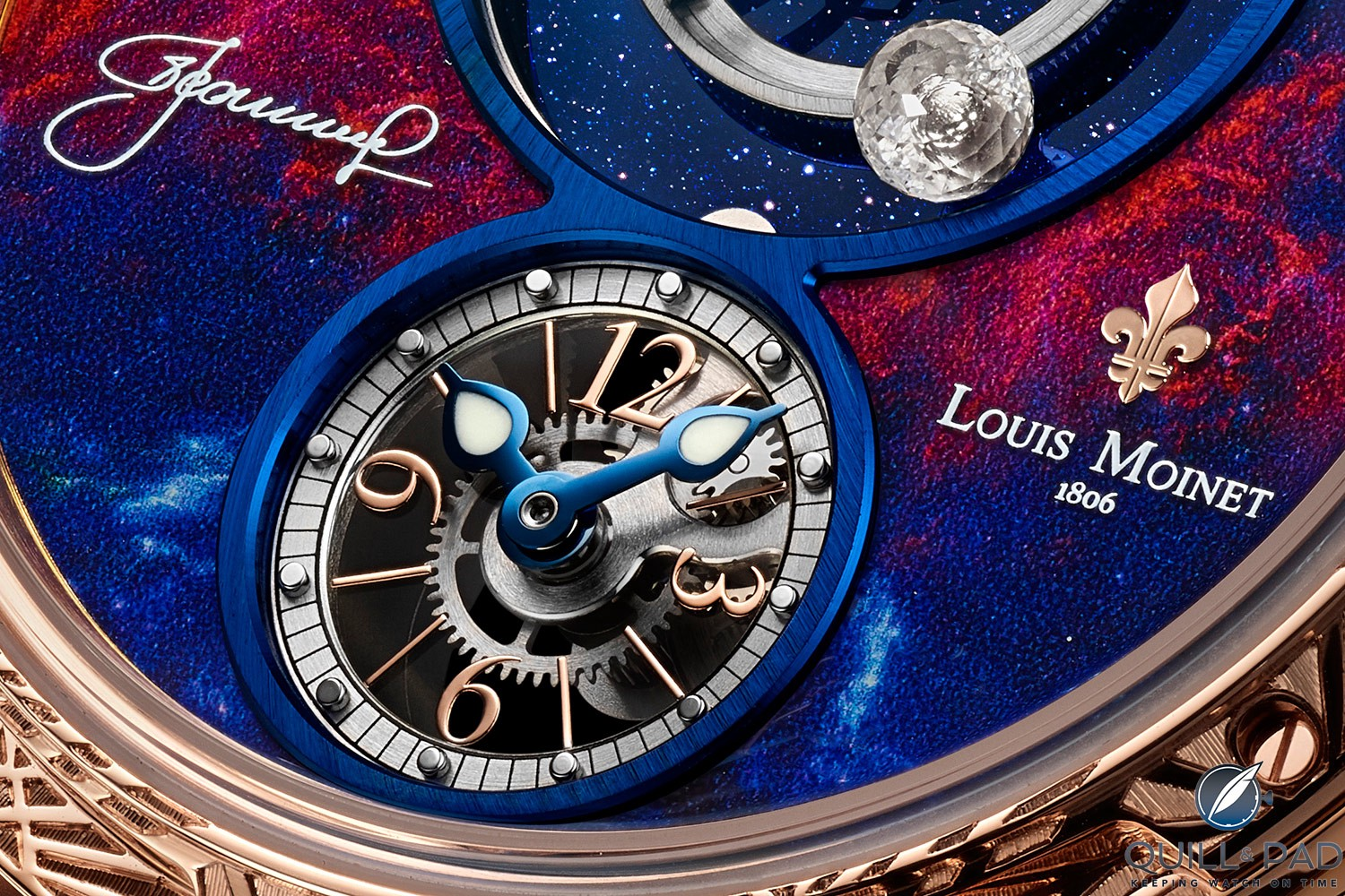 Time display subdial of the Louis Moinet Spacewalker