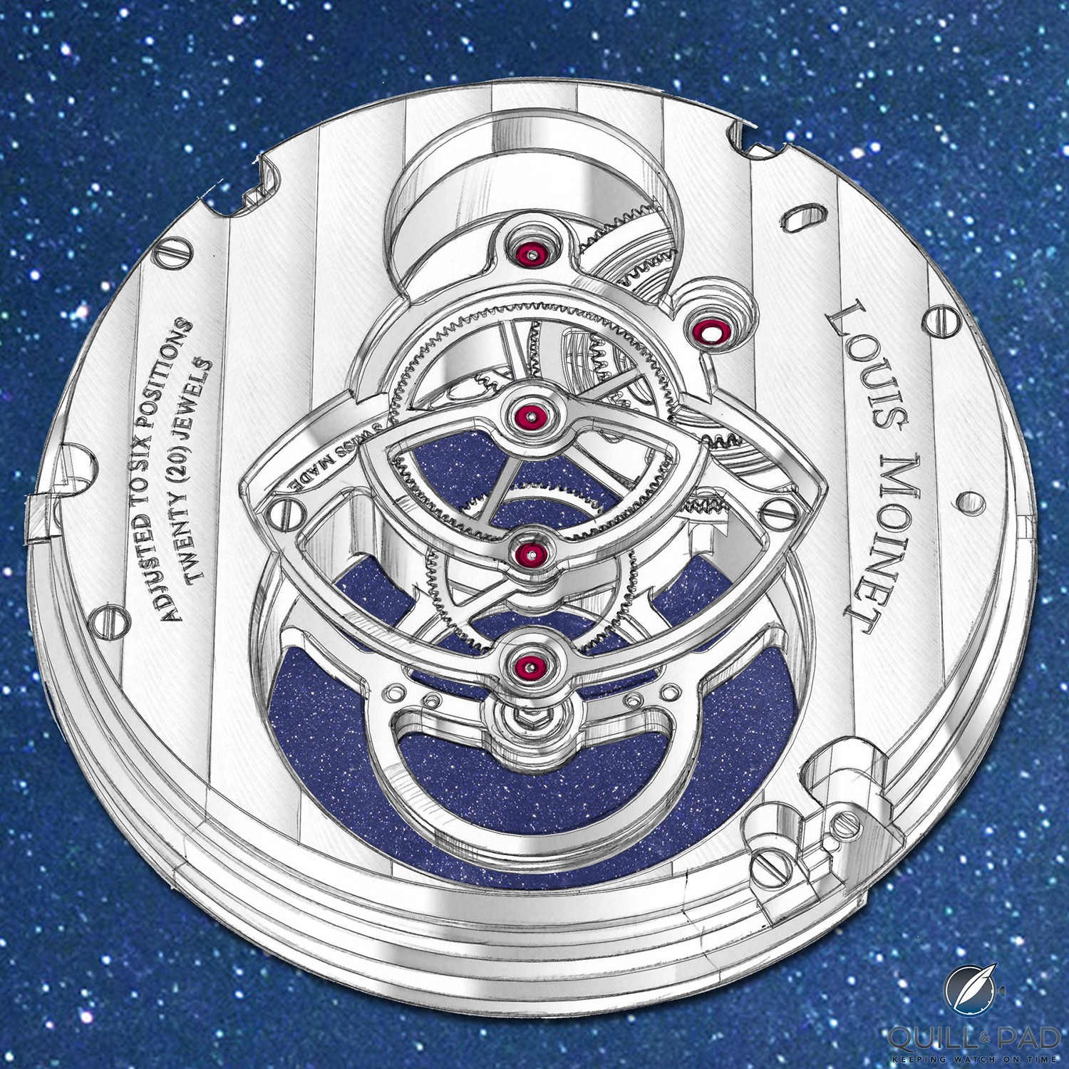 See-though movement of the Louis Moinet Spacewalker