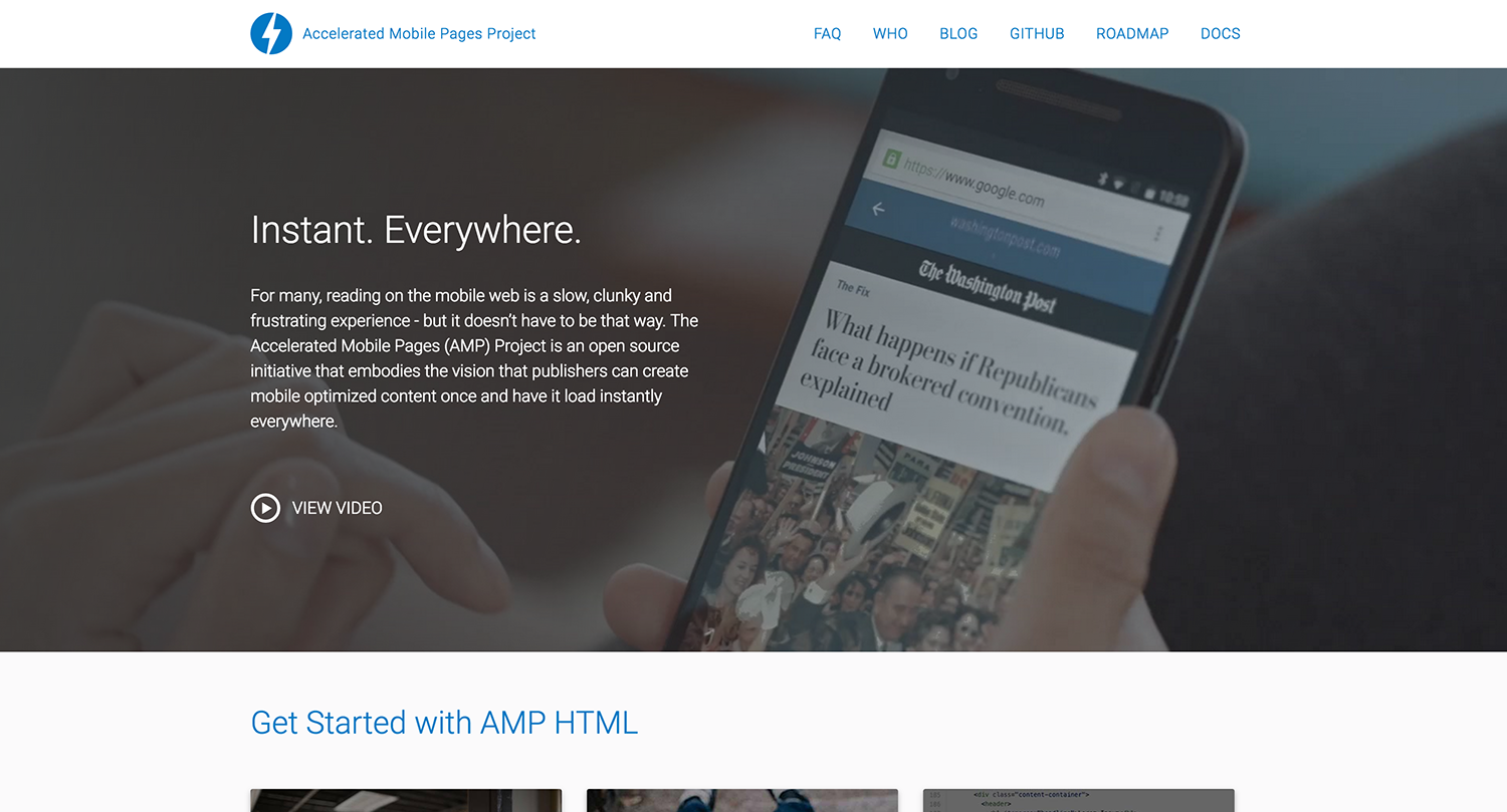A responsive website that is AMP all the way