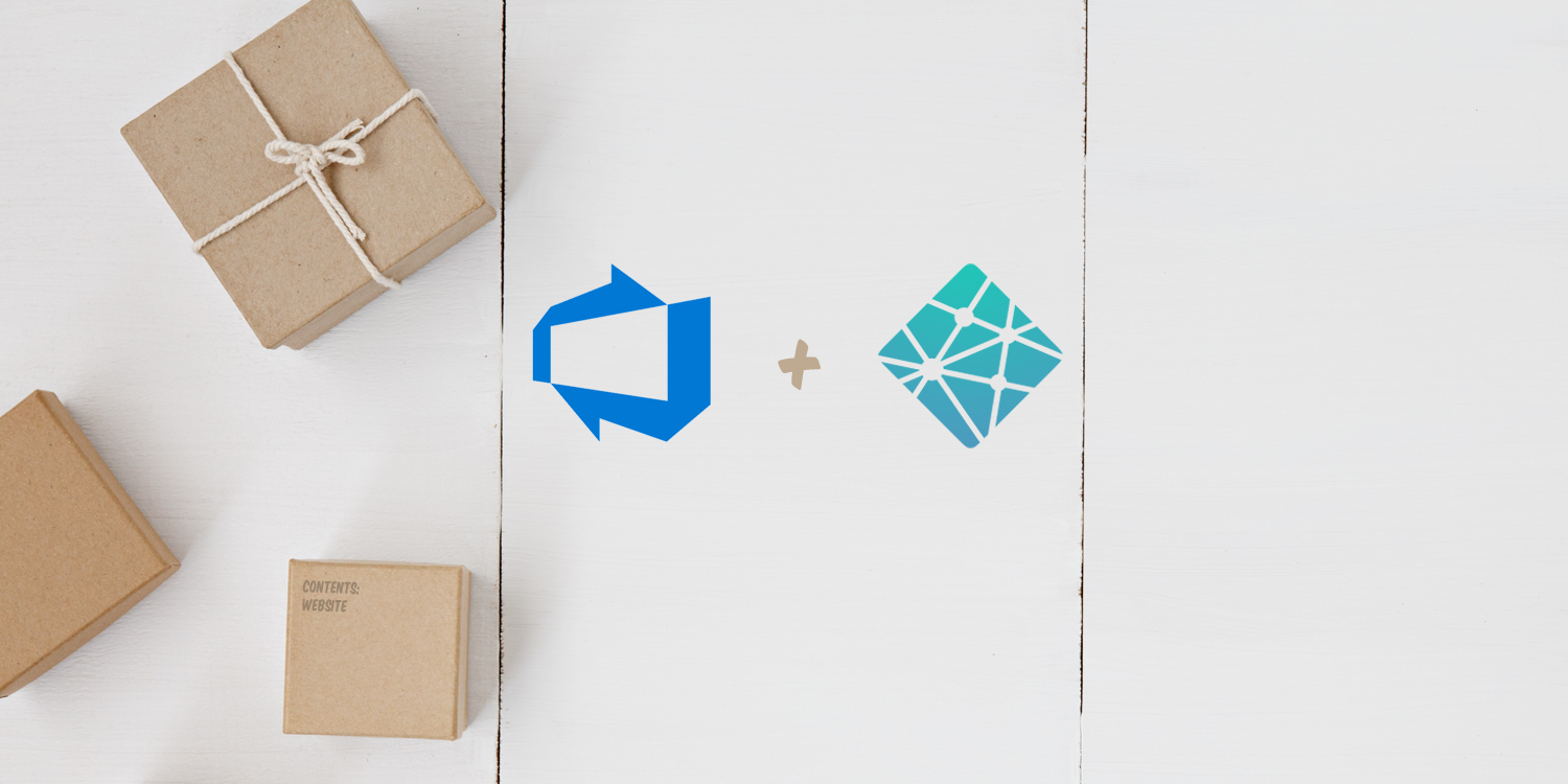 Photo from Unsplash blended with Azure DevOps and Netlify logo.