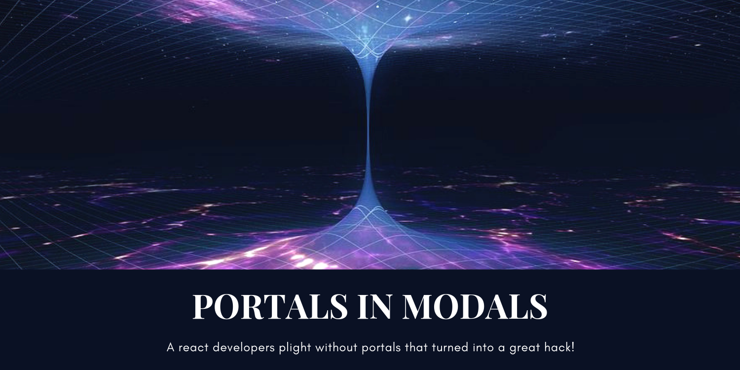 Cover Image for React portals in rescue.