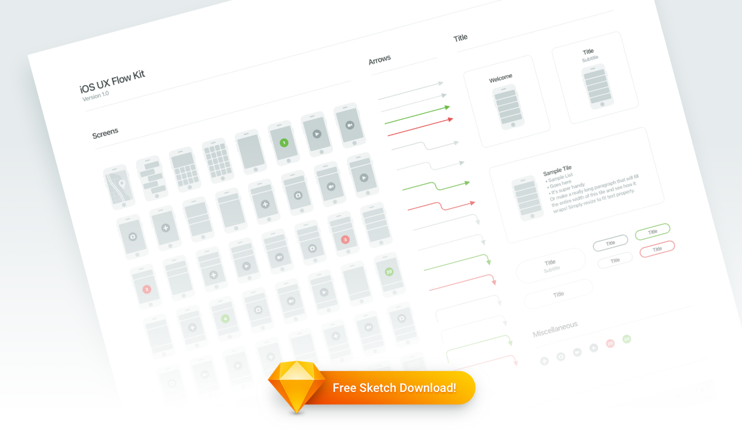 Free Sketch Download: iOS UX Flow Kit - Insightful Software