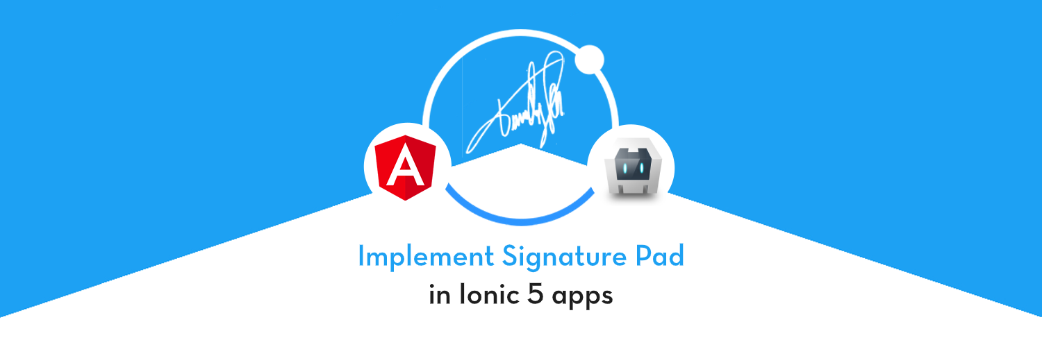 Implement Signature Pad in Ionic 5 apps