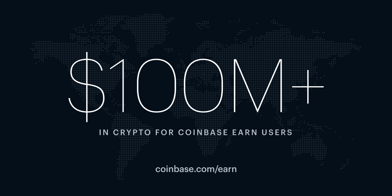 Coinbase Earn now allows users in 100+ countries to earn
