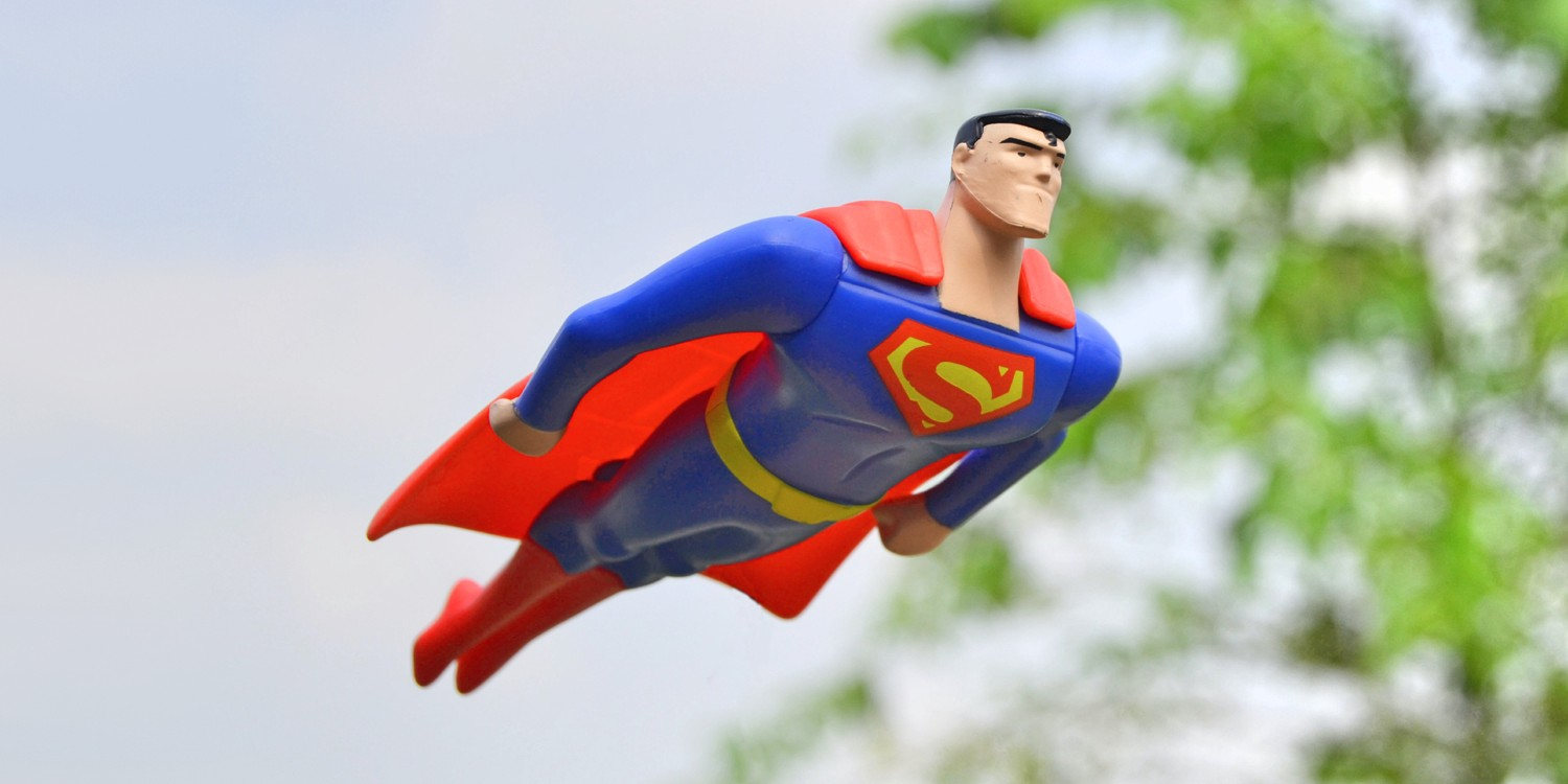 An image of Superman symbolising leadership in a difficult situation.
