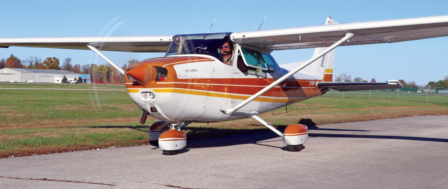 Photo of a club-owned Cessna.