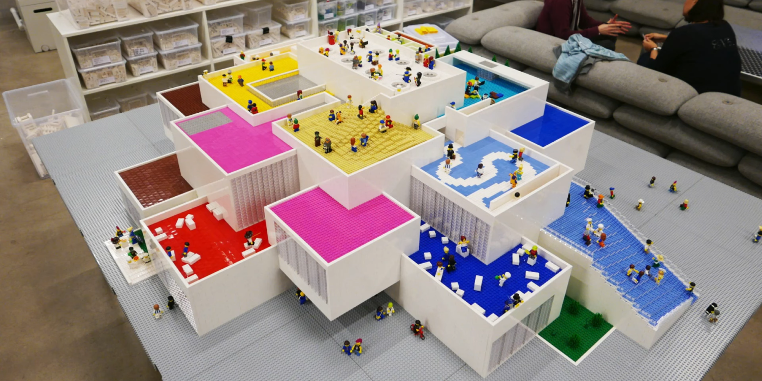 LEGO House model made with LEGO