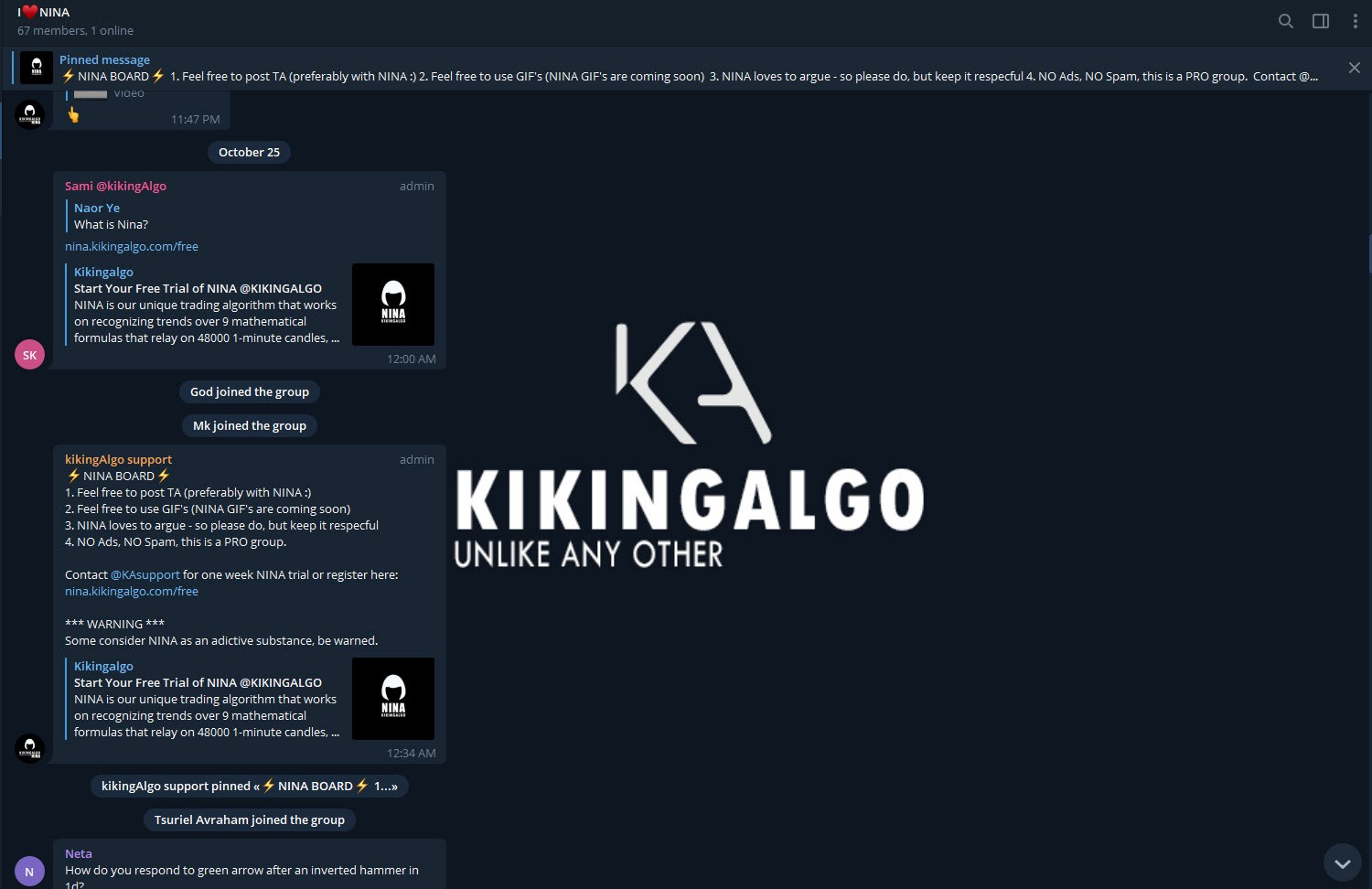 HOW TO USE THE ALGO NINA (with TradingView) - KikingAlgo