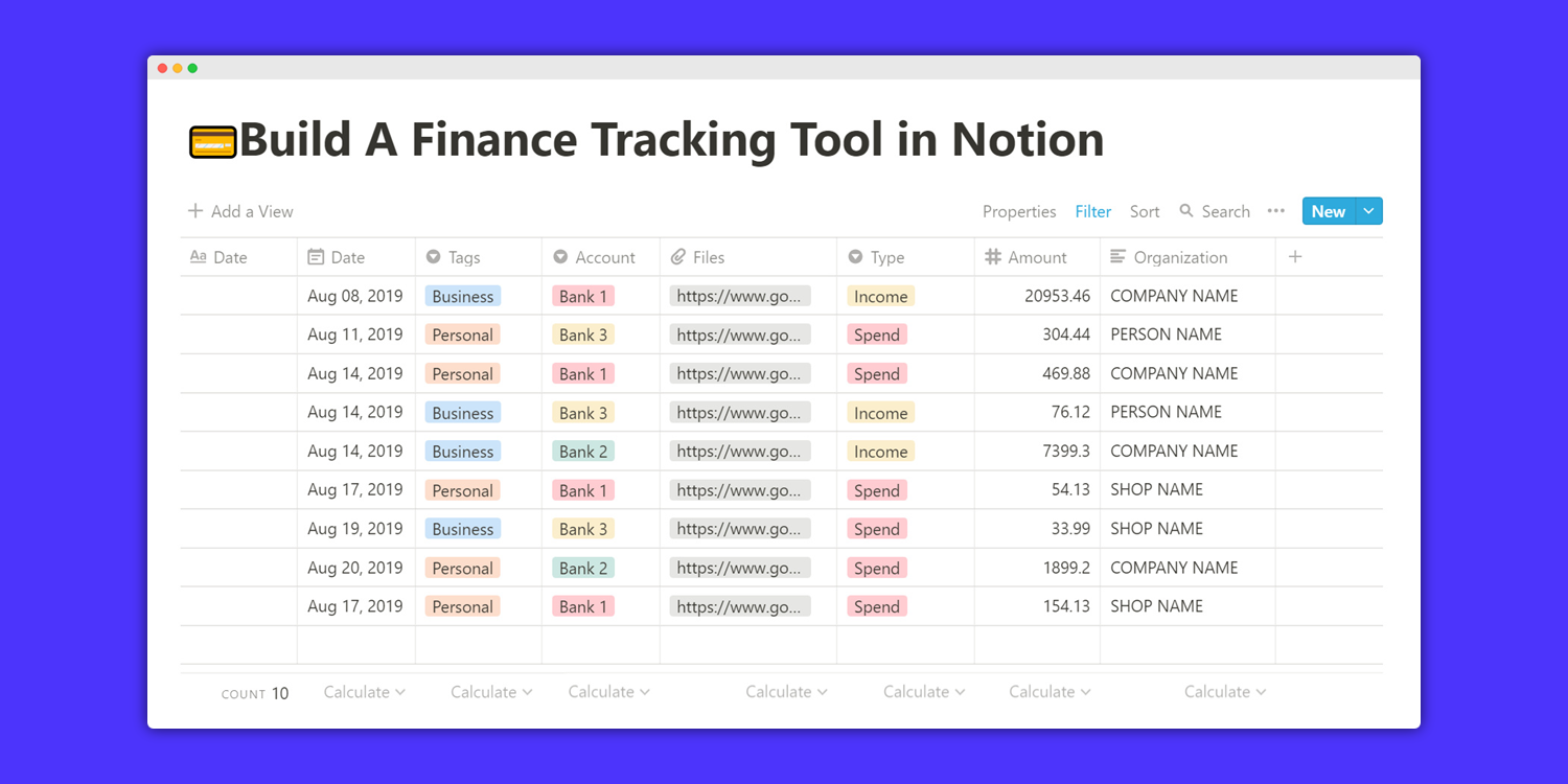 How I Built a Finance Tracker Tool in Notion (with Template)