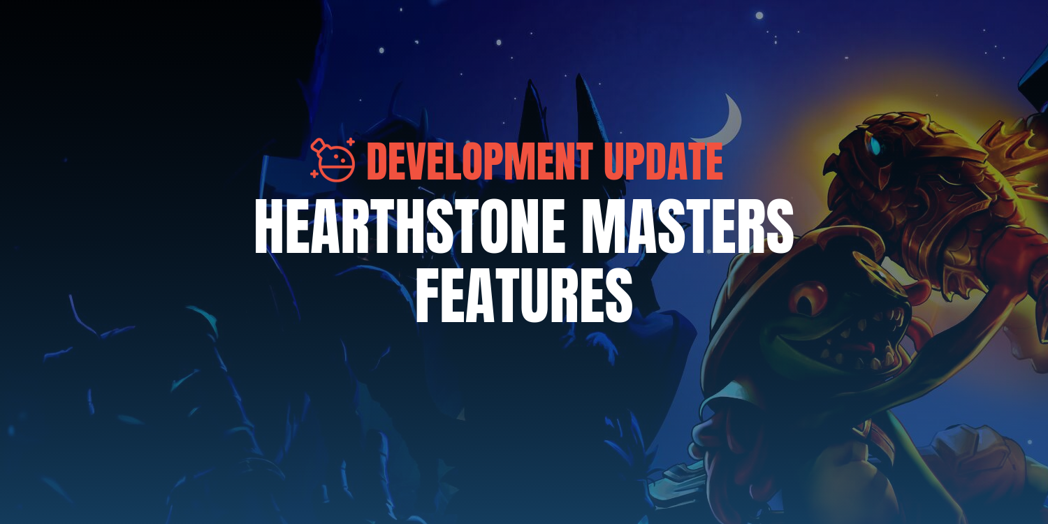 Best Hearthstone Decks 2020.Hearthstone Masters Feature Improvements Battlefy