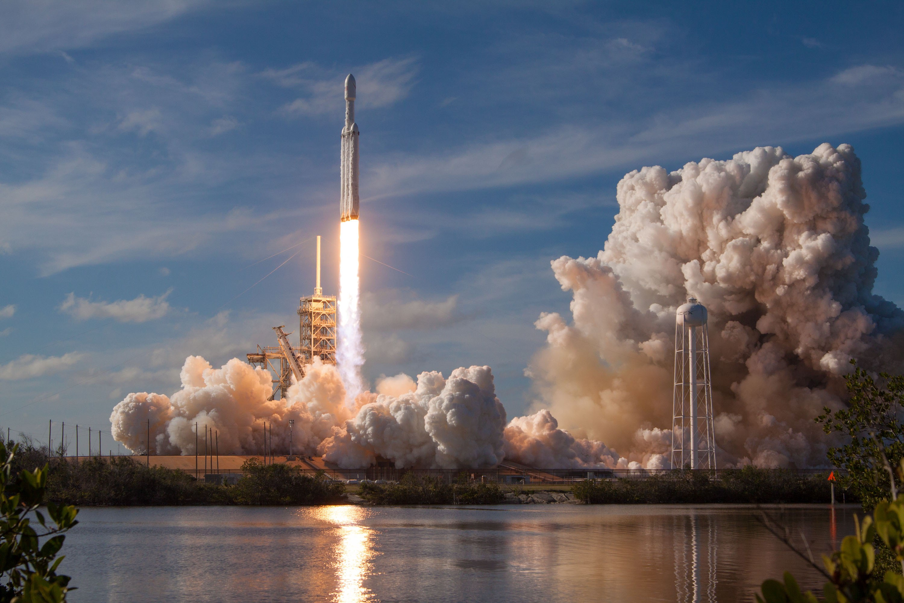 rocket-taking off from launch pad
