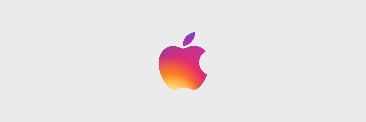 Instagram colors applied to the Apple logo