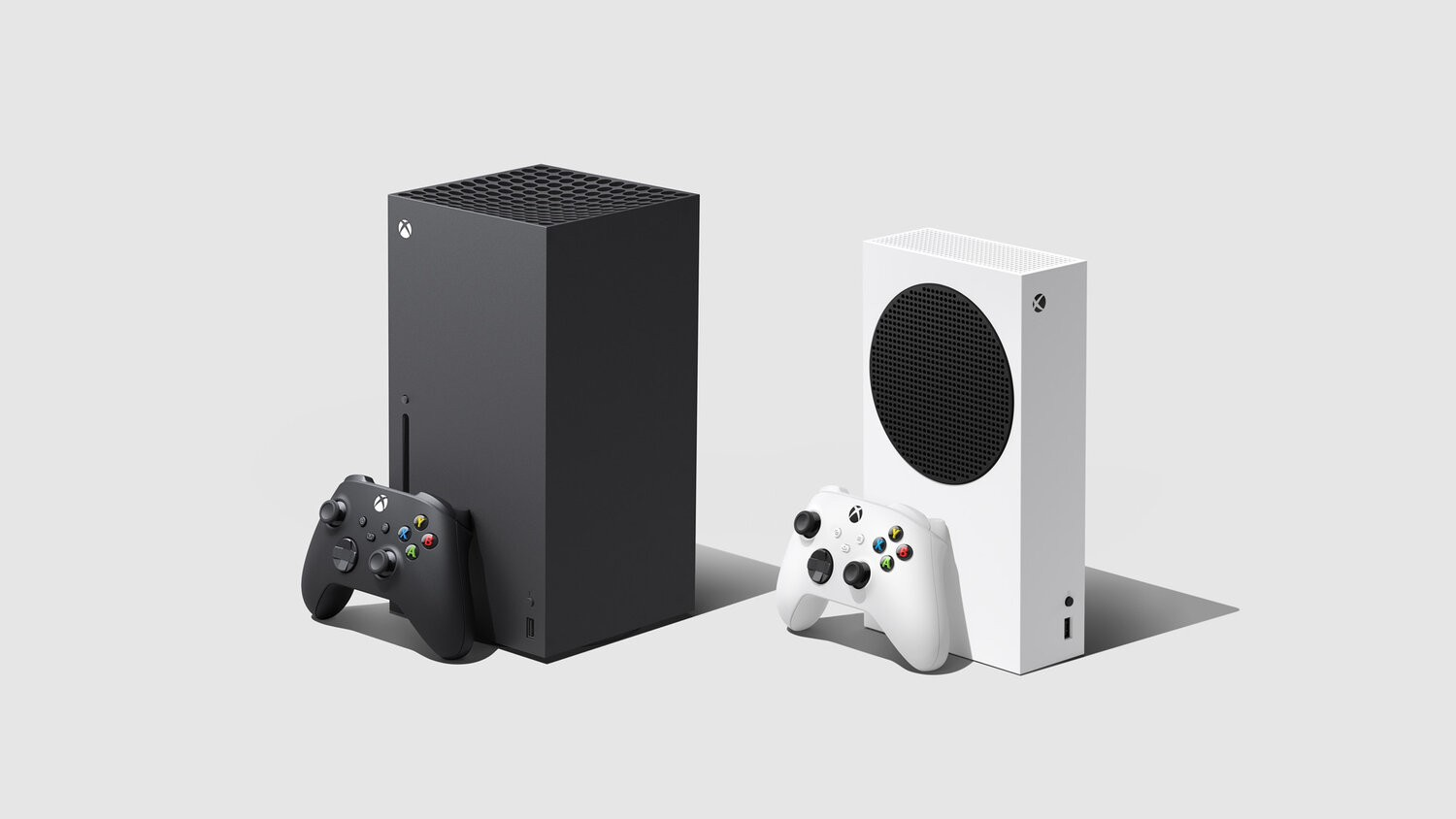 The Xbox Series X (left) and Xbox Series S (right)