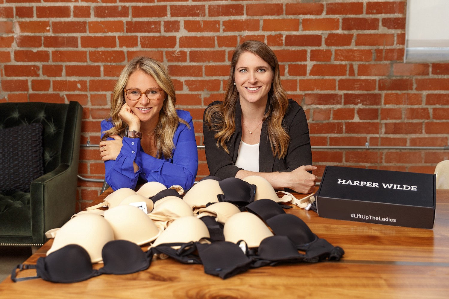 Jenna Kerner '11 poses with Harper Wilde co-CEO Jane Fisher.