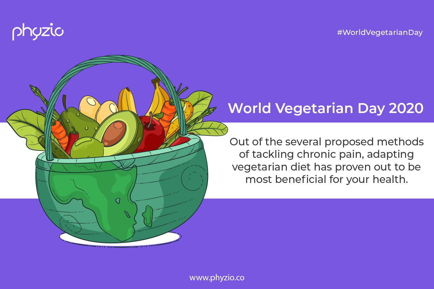 World vegetarian day 2020 and fight chronic pain