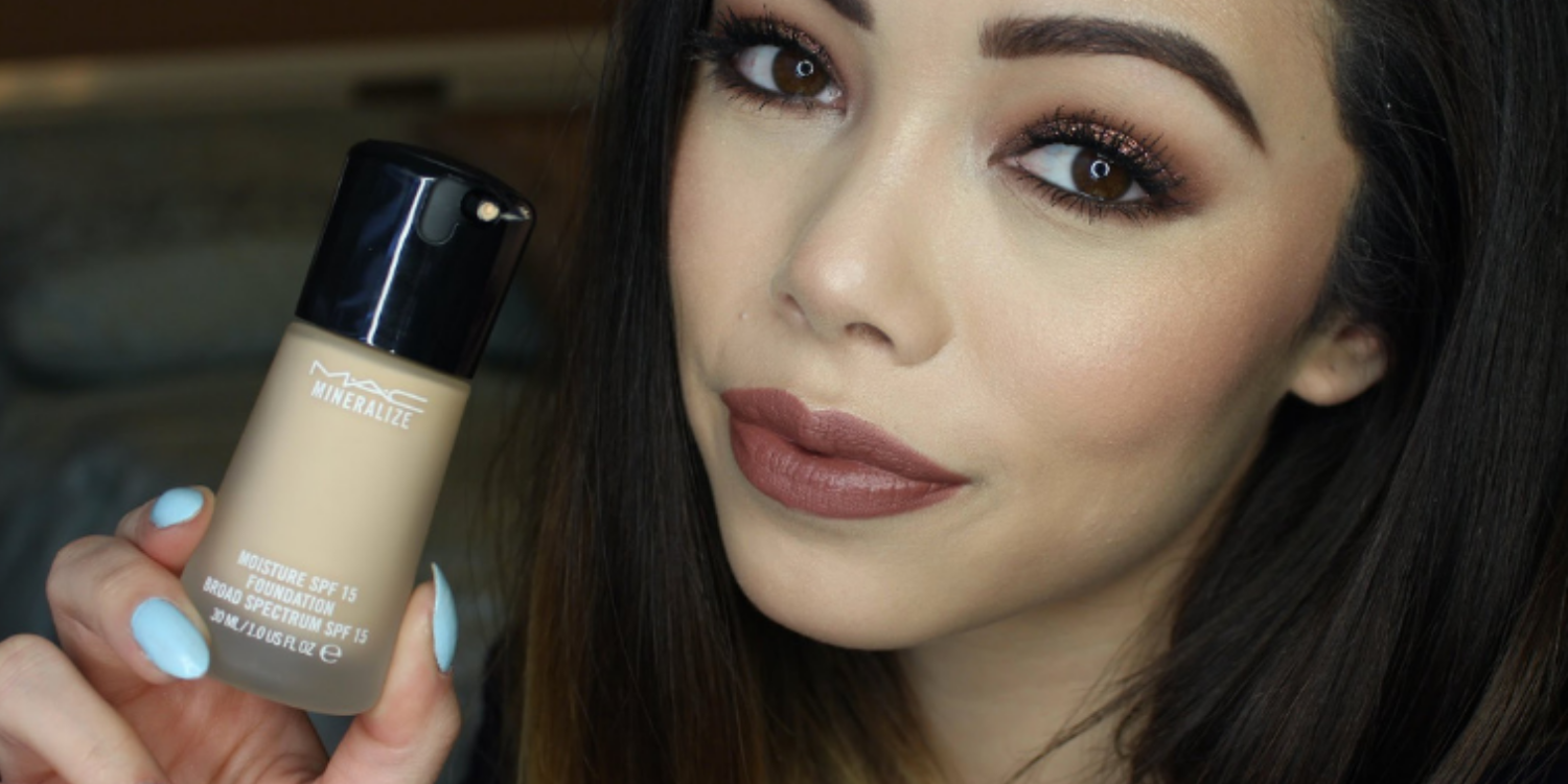 M A C Mineralize Moisture Spf 15 Foundation Review By The Good Look Book Medium