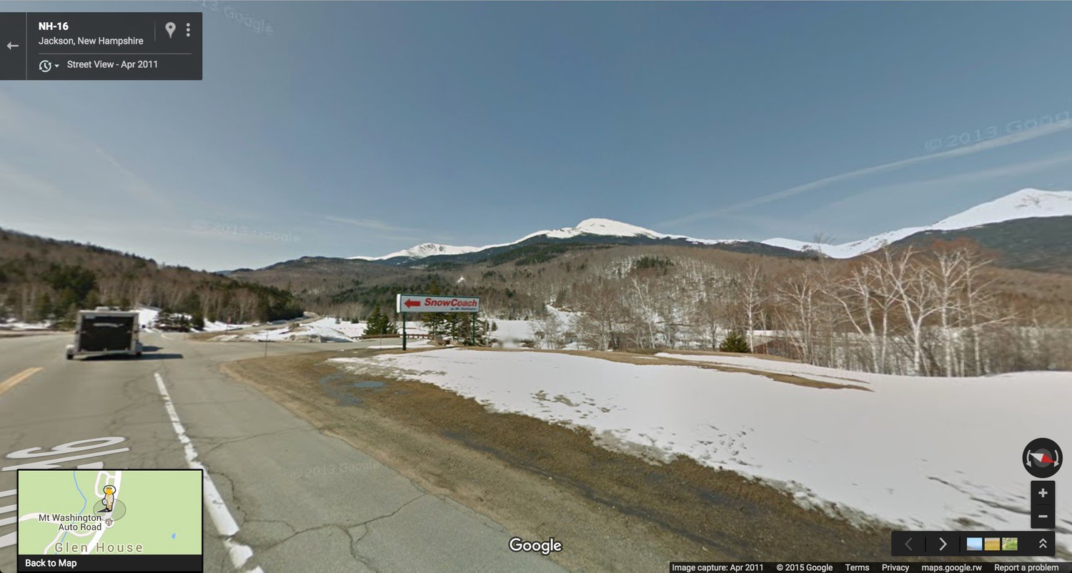 You Can T Climb Mt Washington With Google Street View Post 8