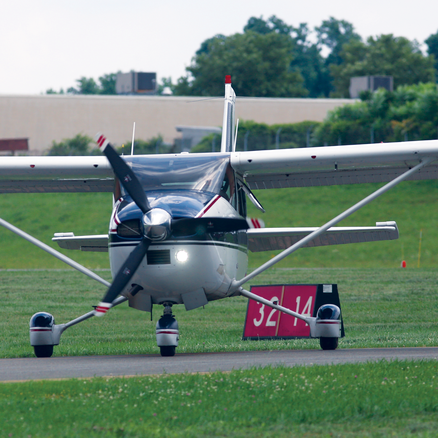 General Aviation plane on a runway
