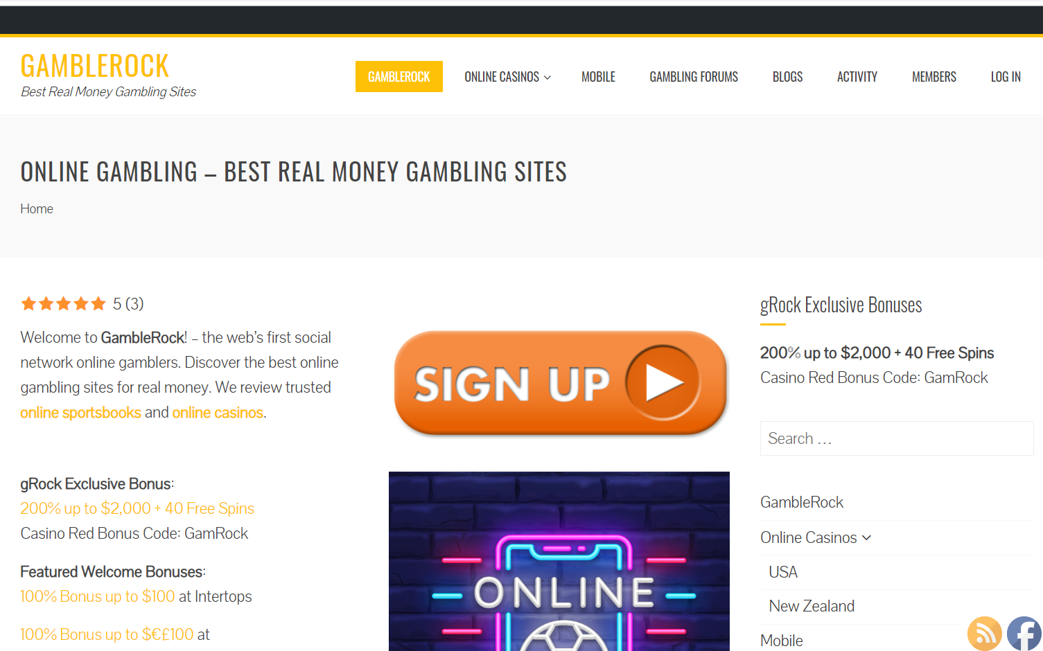 Find The Best Online Gambling Sites Of 2019 At Gamblerock Com By