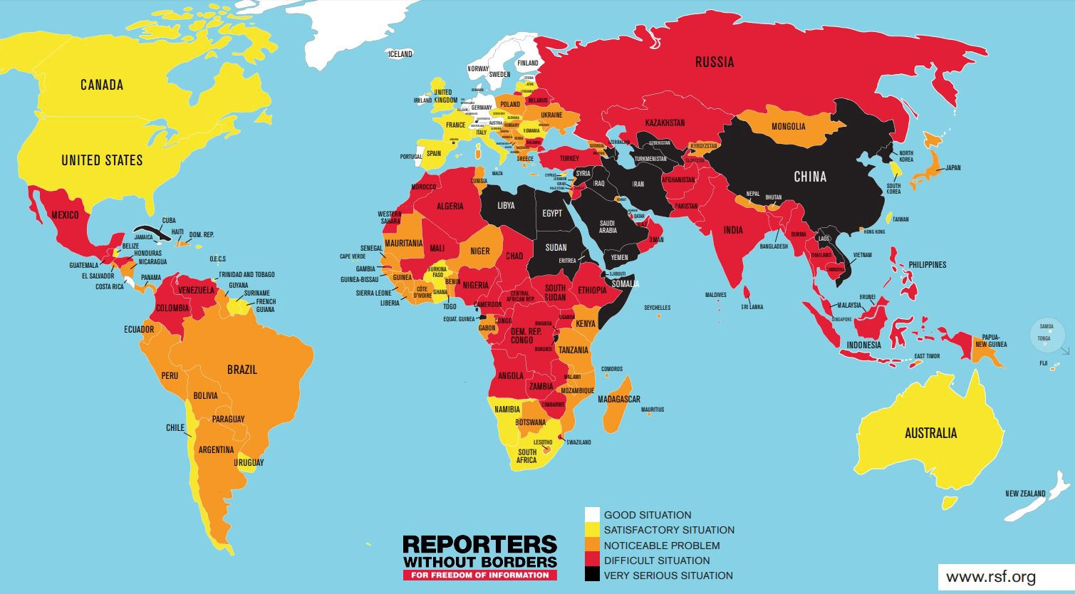 Press freedom is declining worldwide and media mergers are