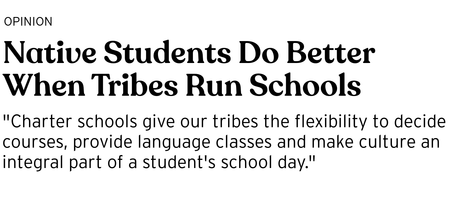 Native Students Do Better When Tribes Run Schools - BRIGHT