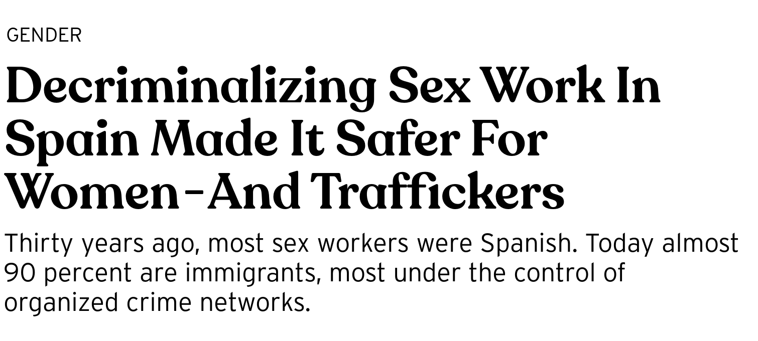 Decriminalizing Sex Work In Spain Made It Safer For Women
