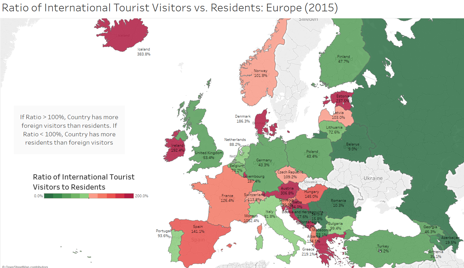 Map Of Europe France.Which European Countries Are Overrun With Tourists And Other Data