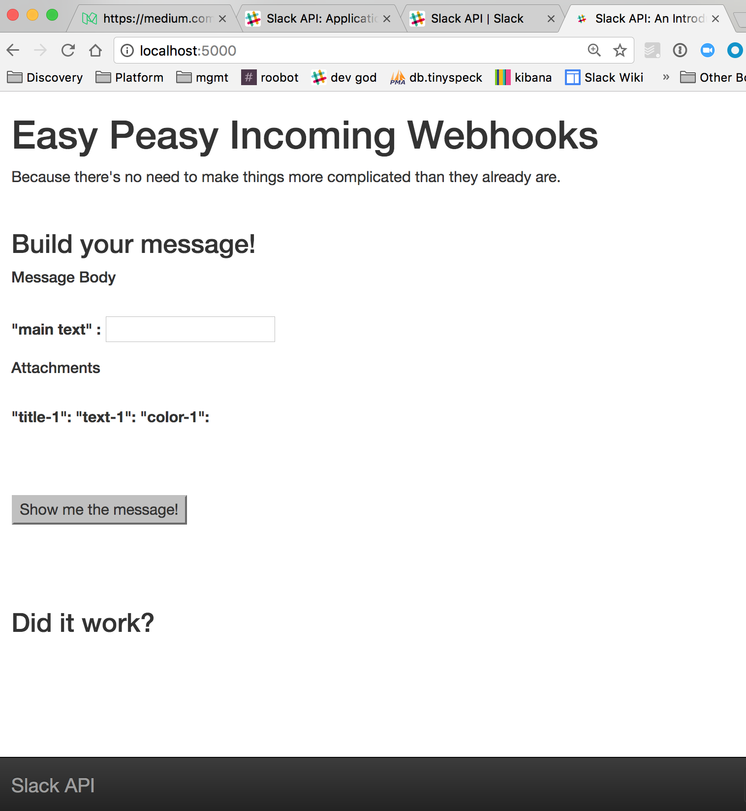 An Introduction to the Slack API: Easy-peasy Incoming Webhooks