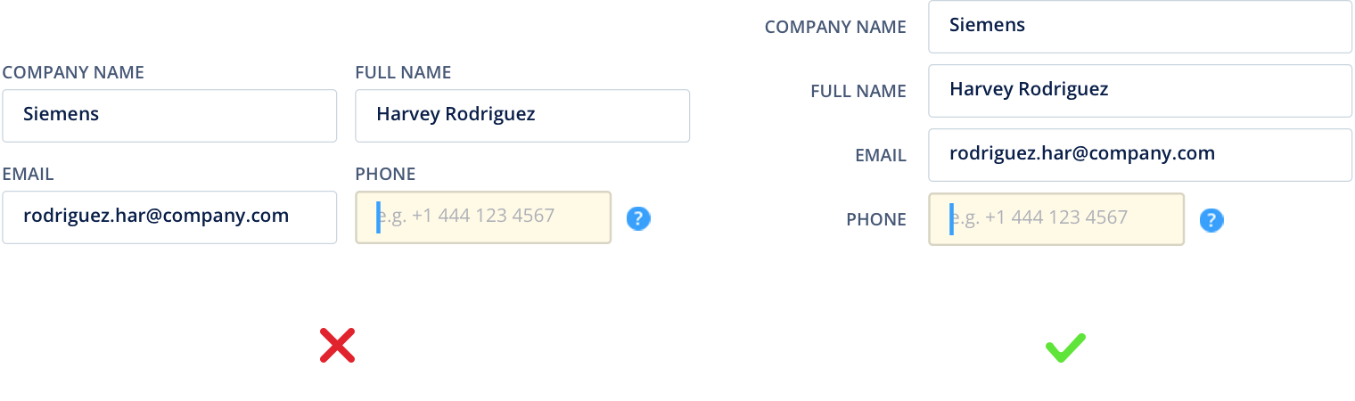 16 Tips that Will Improve Any Online Form - UX Planet