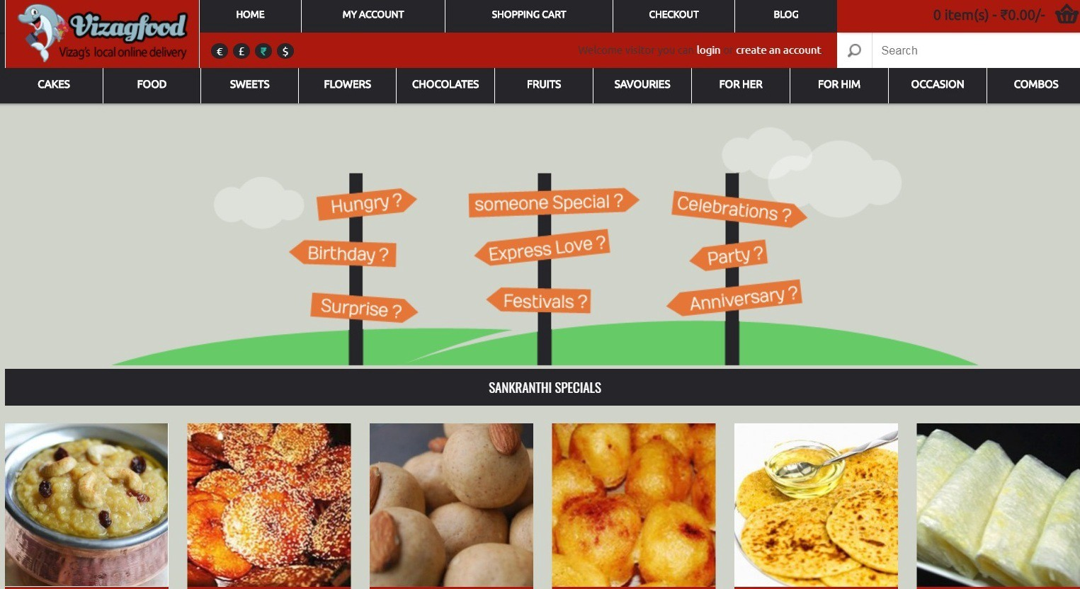 home delivery food in vizag