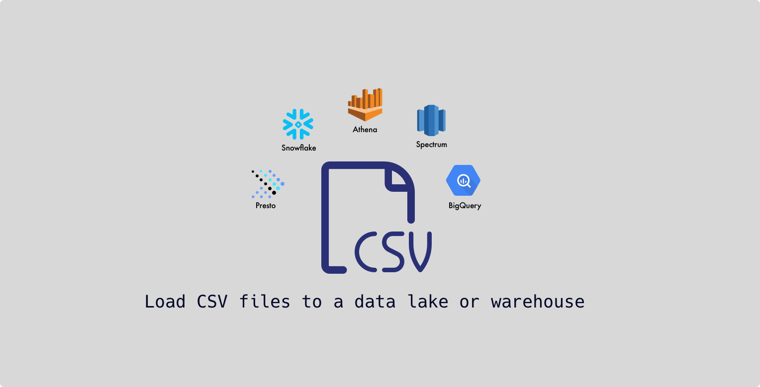 How can I import CSV files to a data lake or data warehouse