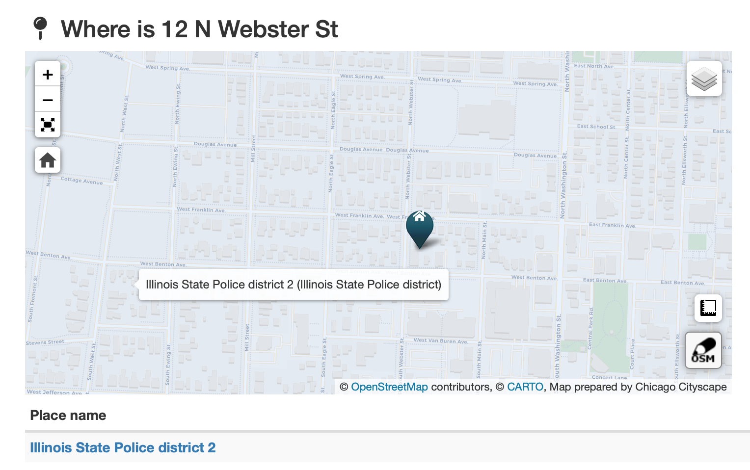 New Places: Illinois State Police districts - Chicago Cityscape