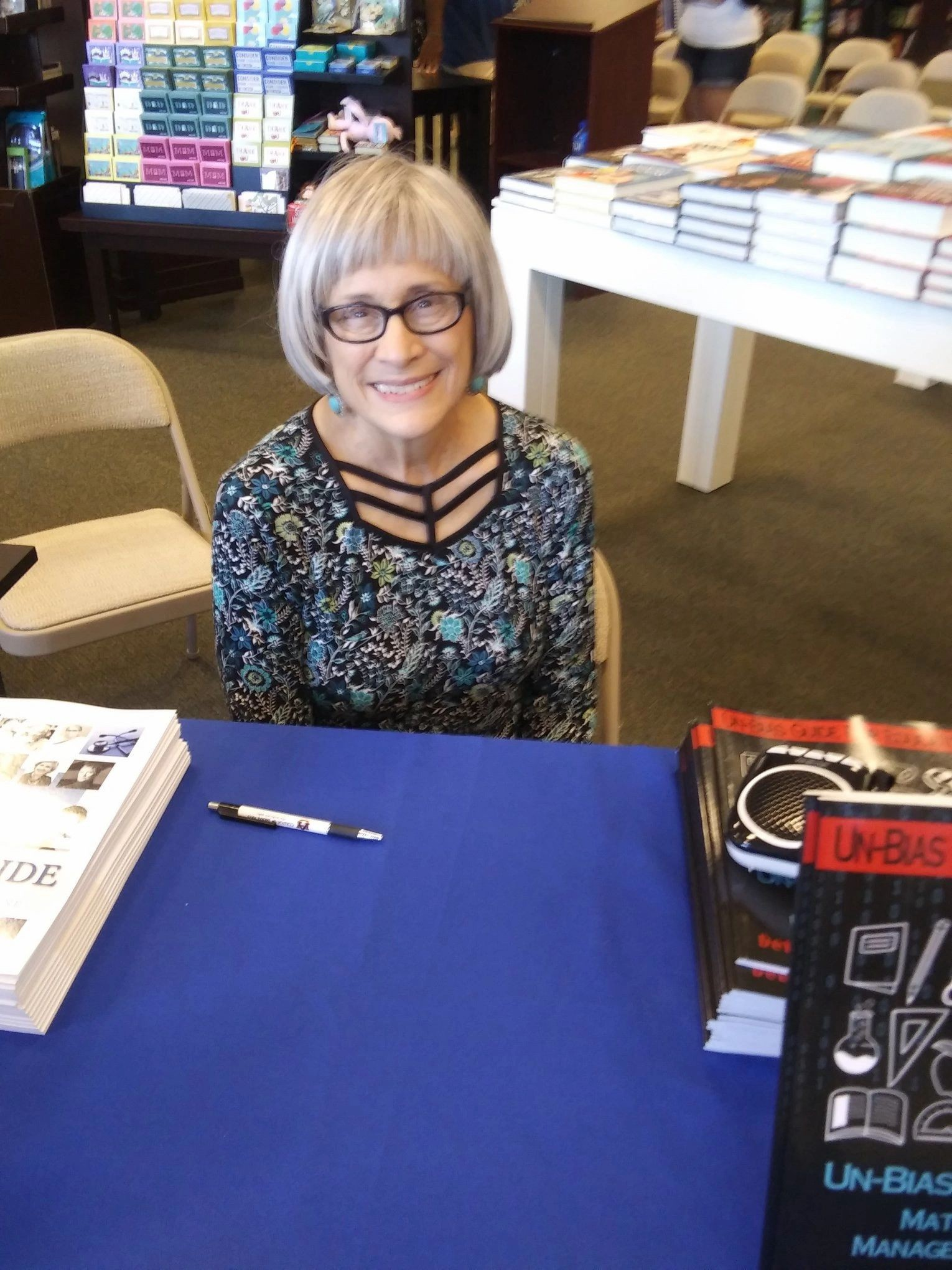 Deborah Levine at her book signing