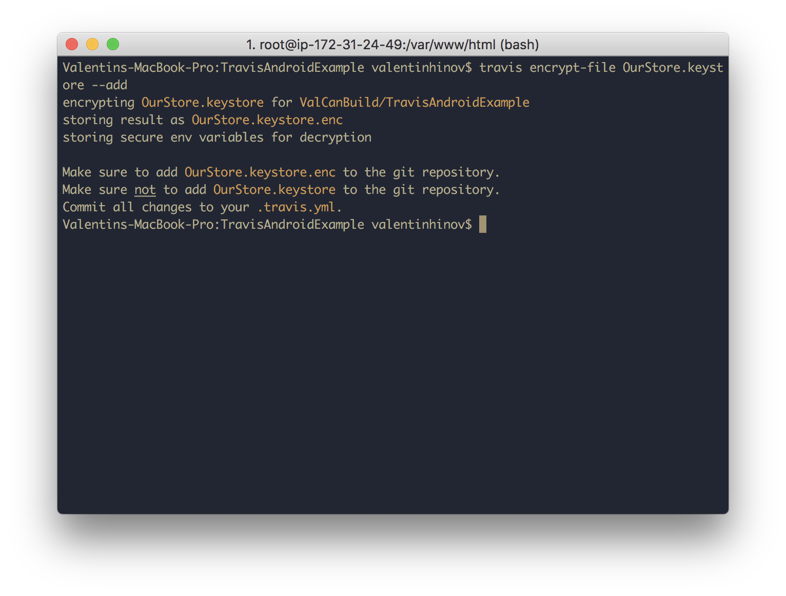 Using TravisCI to securely build and deploy a signed version