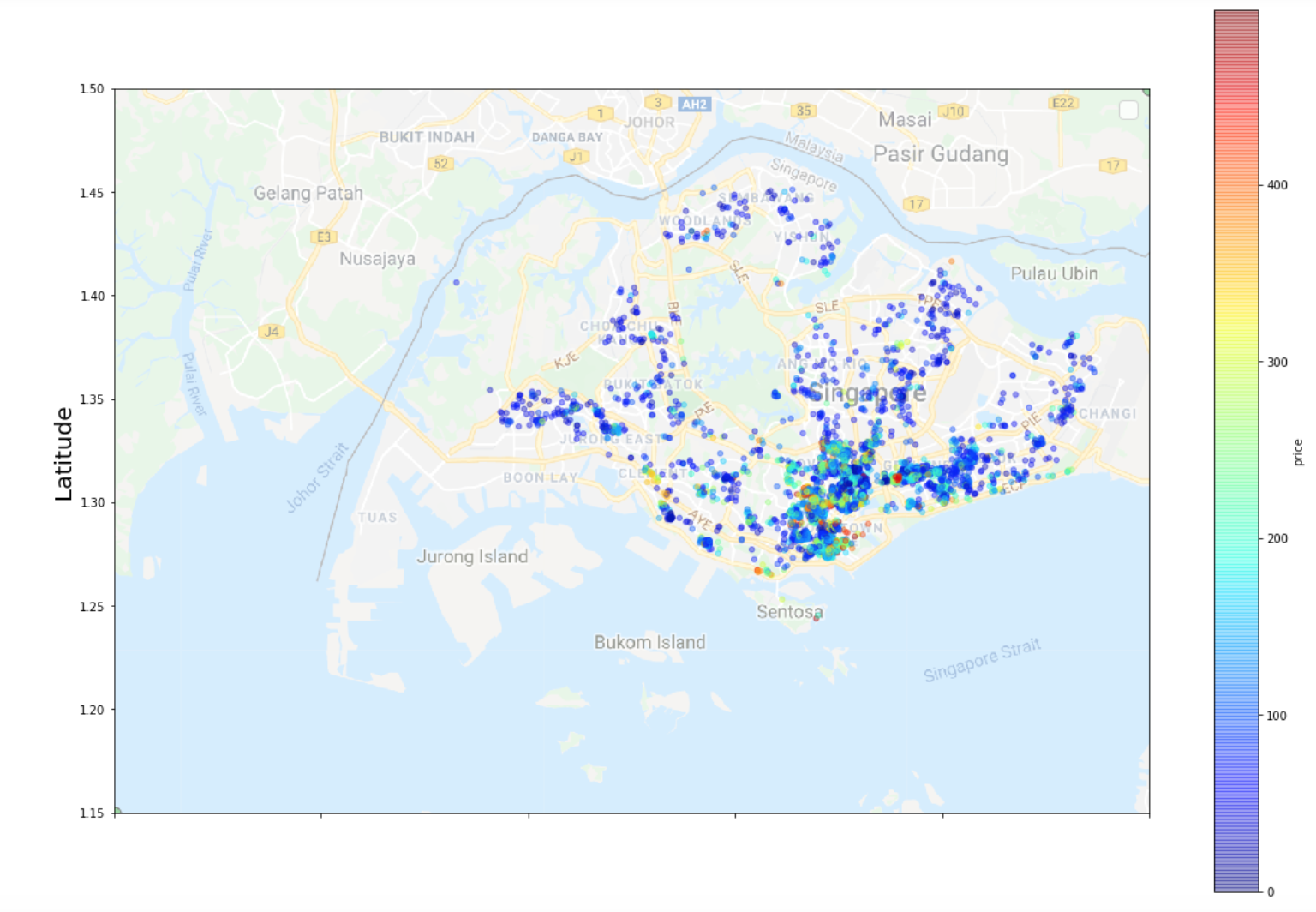 Let S Plot Airbnb Locations And Prices On A Map Of Singapore By Chris I Towards Data Science