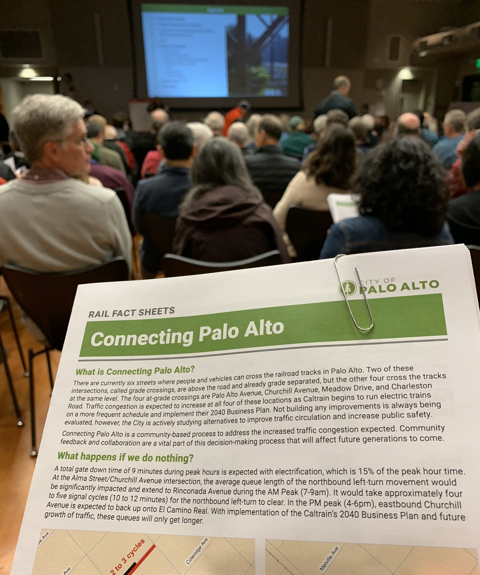 Rail Fact Sheets were presented at the community meeting.