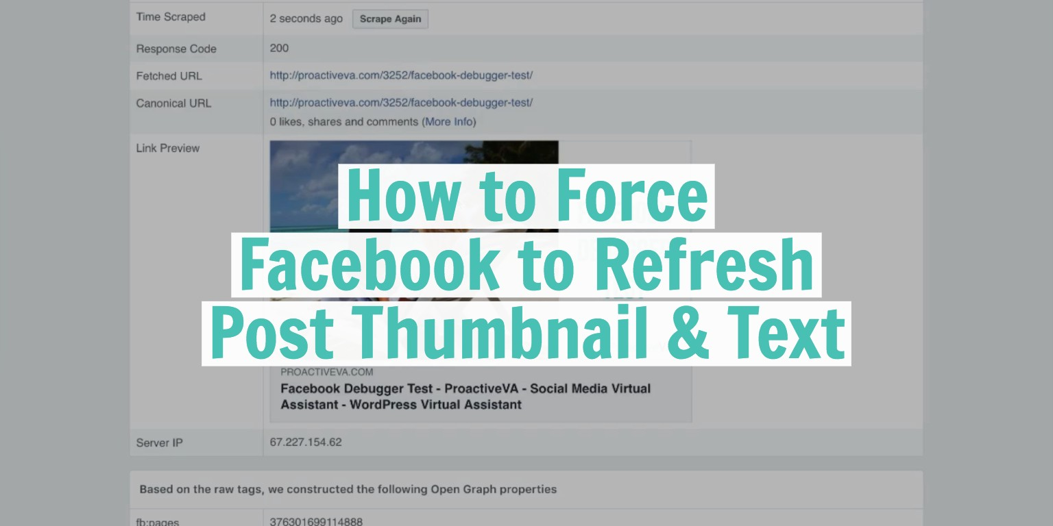 How to Refresh Your URL Using the Facebook Debugger