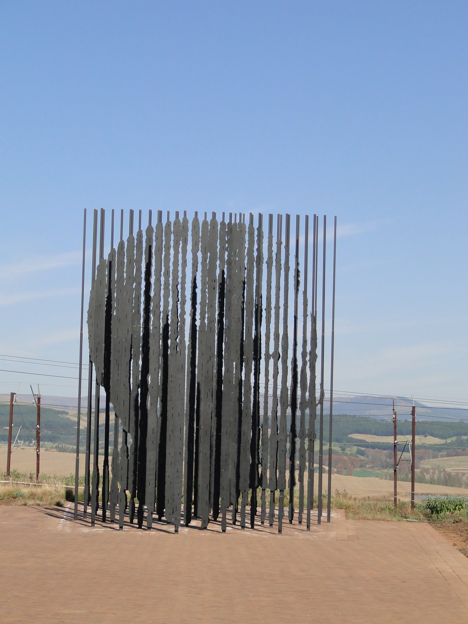The stunning sculpture at the Nelson Mandela Capture Site near Howick. Photo by Karla J. Strand. All rights reserved.